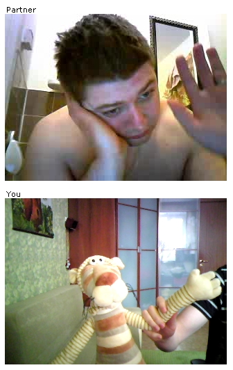ChatRoulette Screenshot: Chat from the toilet