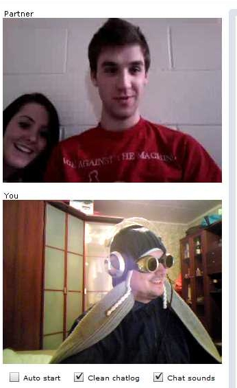 ChatRoulette Screenshot: Me and my GF