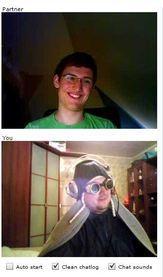 ChatRoulette Screenshot: py St. Patrick