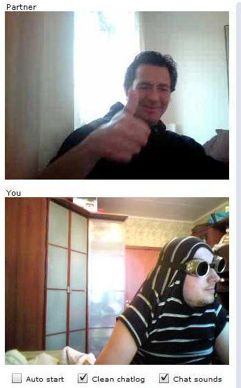 ChatRoulette Screenshot: I like your style!